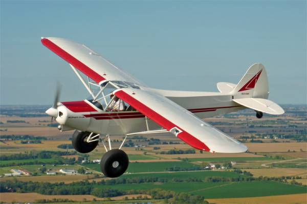 Piper Cub Red White Paint