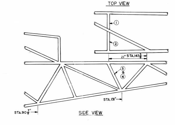 1750# Gross Weight Fuselage Structure PA18-135
