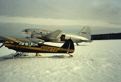Click image for larger version.  Name:Cub and C 46 on Ice.jpg Views:28 Size:109.4 KB ID:43056