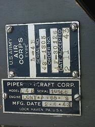 Click image for larger version.  Name:1943 Piper Data Tags.jpg Views:370 Size:895.2 KB ID:7664