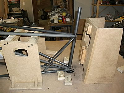 Click image for larger version.  Name:9 I like building fixtures - tail post tacked in place.JPG Views:210 Size:166.2 KB ID:24849